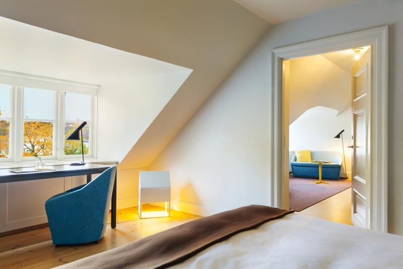 Habitación en Hotel Skeppsholmen <br> Foto: hotelskeppsholmen.se