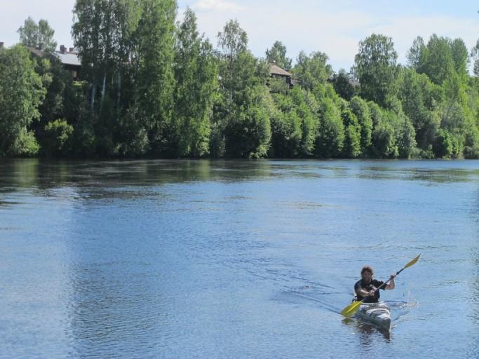 Kayaking en Skellefteå
