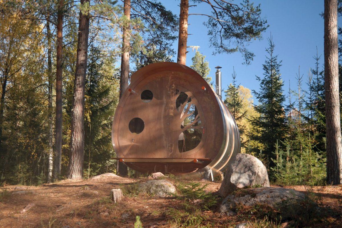 La cabaña Oddis Öga en Dalarna, Suecia <br> Foto: nasets-marcusgard.se
