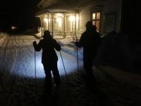 Paseando con raquetas de nieve Lantliv Lodge - Foto: Israel Úbeda / sweetsweden.com