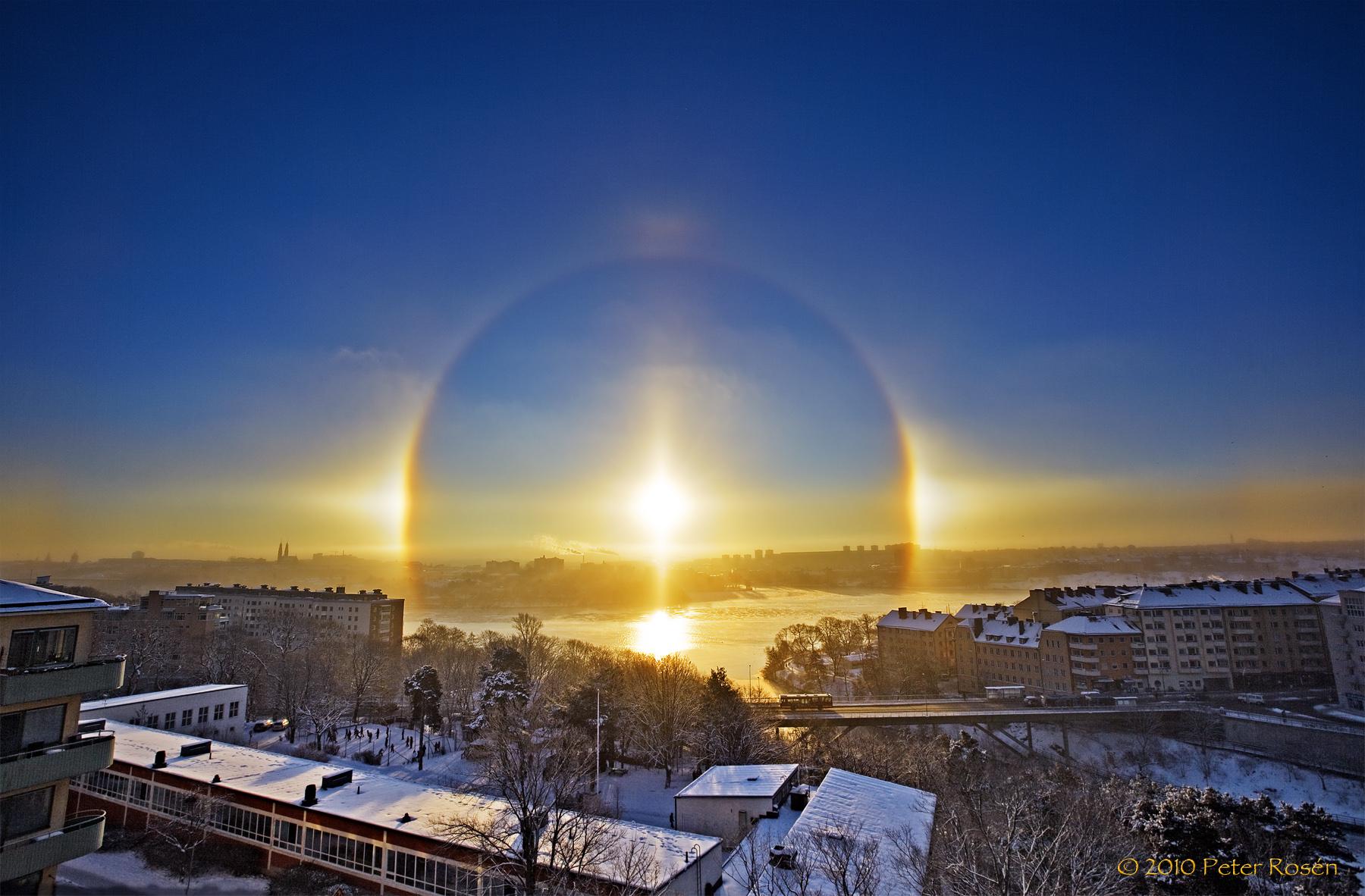 Estocolmo Bajo Un Halo Solar Sweetsweden