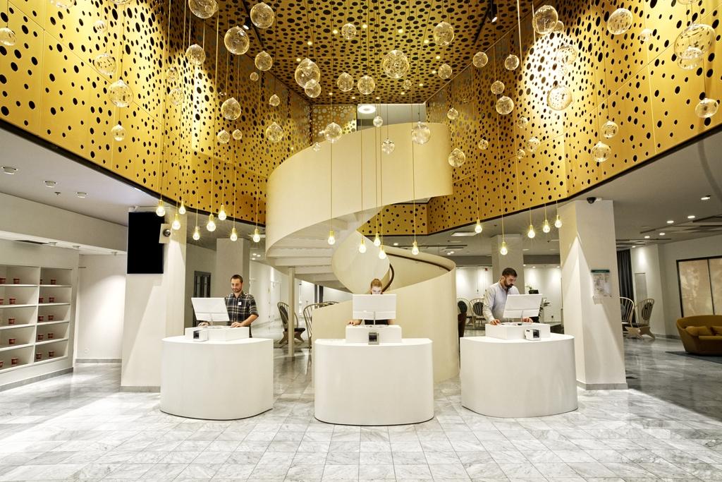 Recepción del Hotell C Stockholm <br> Foto: Olav Stubberud