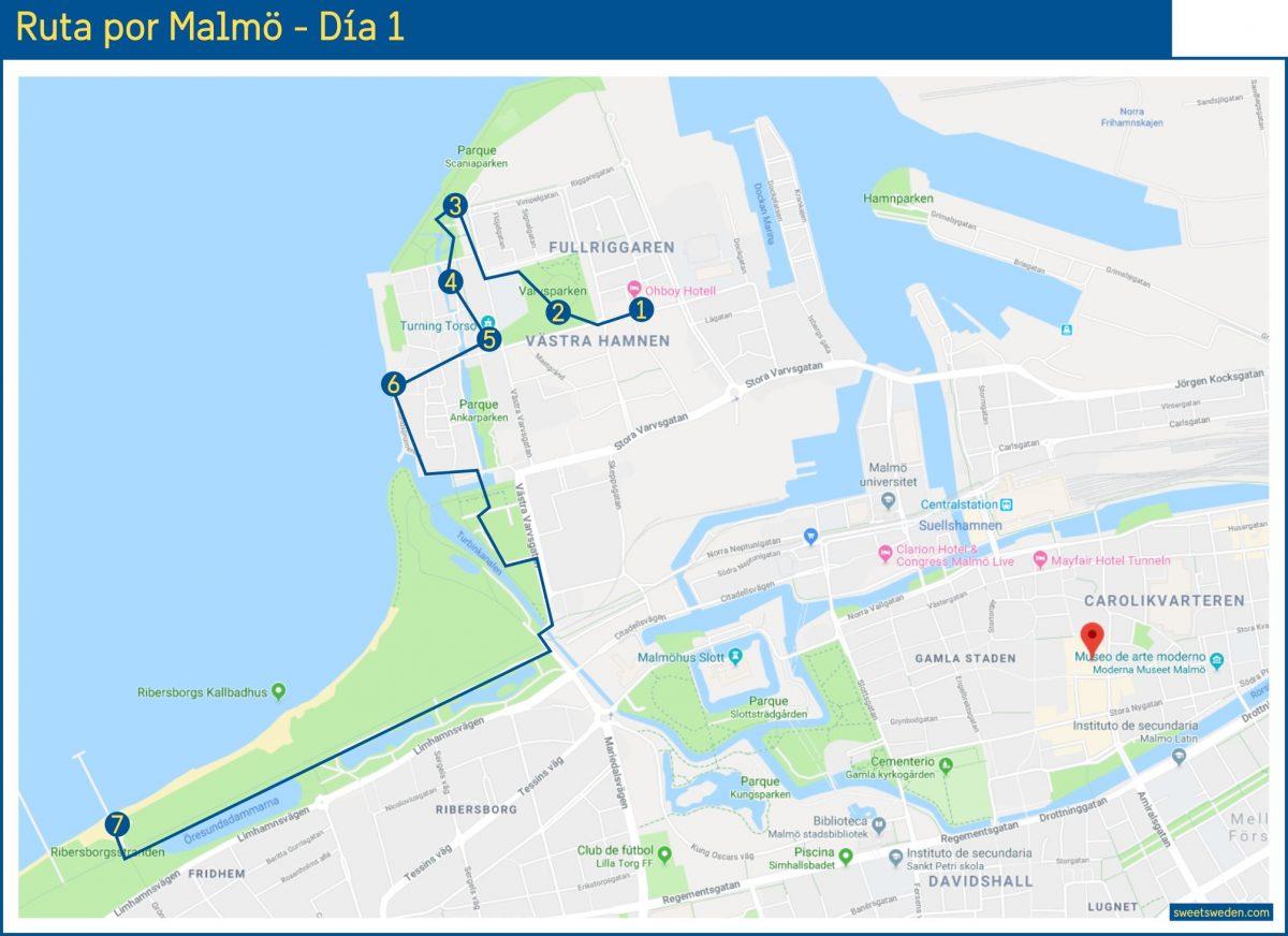 Ruta por Malmö - Día 1 <br> sweetsweden.com