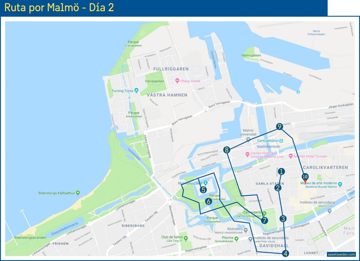 Ruta por Malmö - Día 2 <br> sweetsweden.com