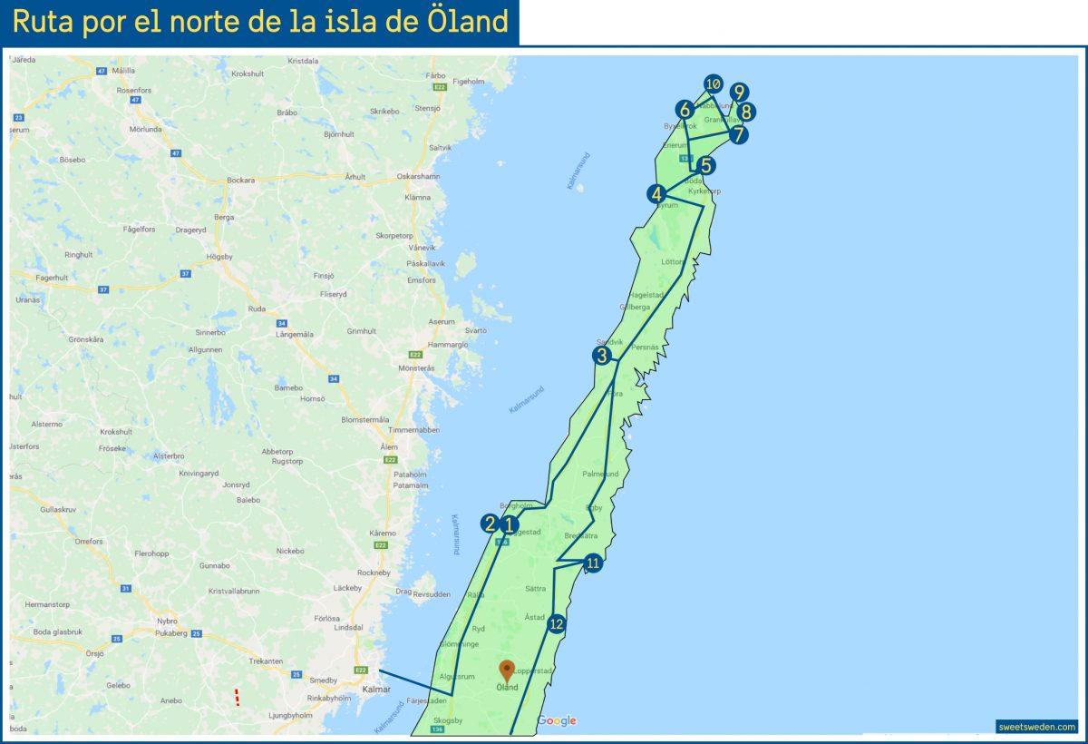 Ruta por el norte de la isla de Öland <br> sweetsweden.com