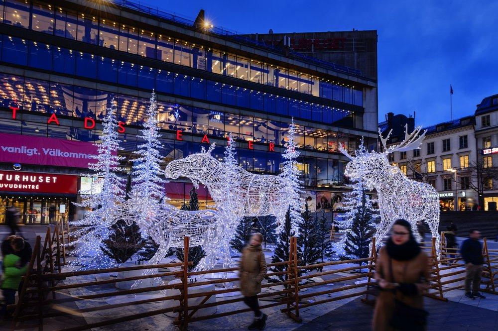 Luces de Navidad en Estocolmo en Sergels Torg <br> foto: stockholmsjul.se