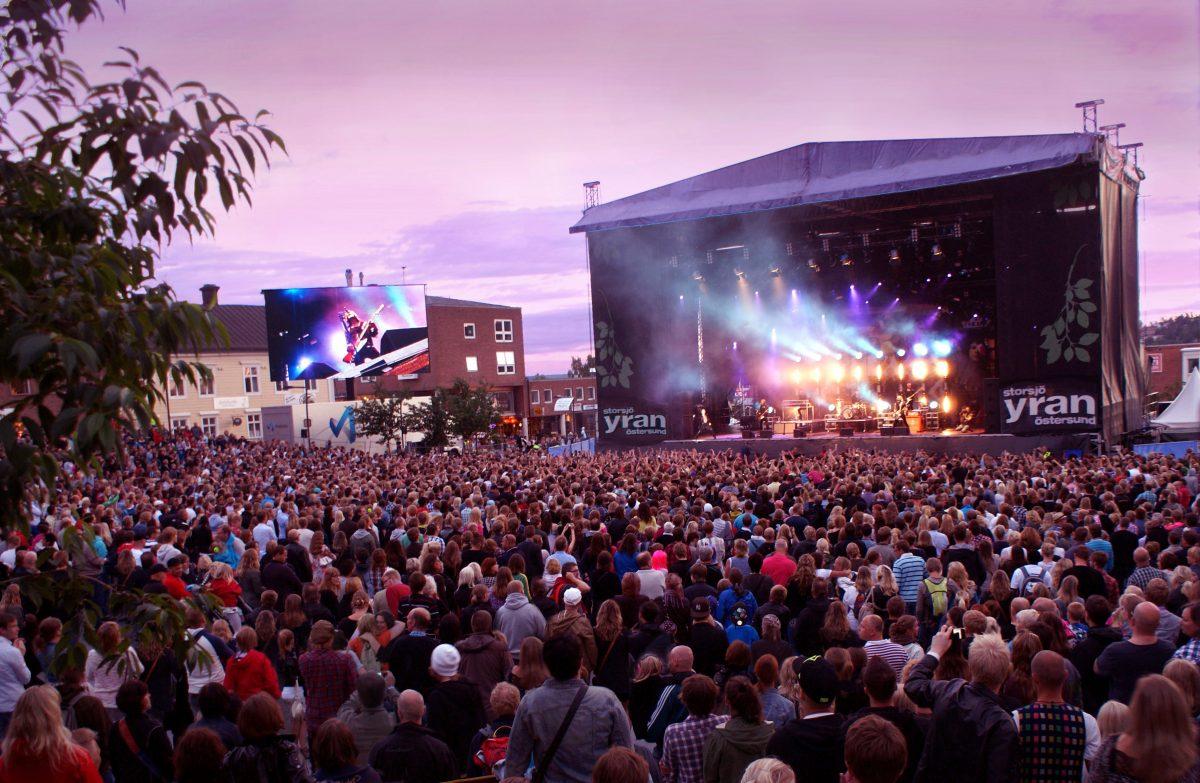 Storsjöyran, uno de los mayores festivales de Escandinavia se celebra en Östersund <br> Foto: Storsjöyran