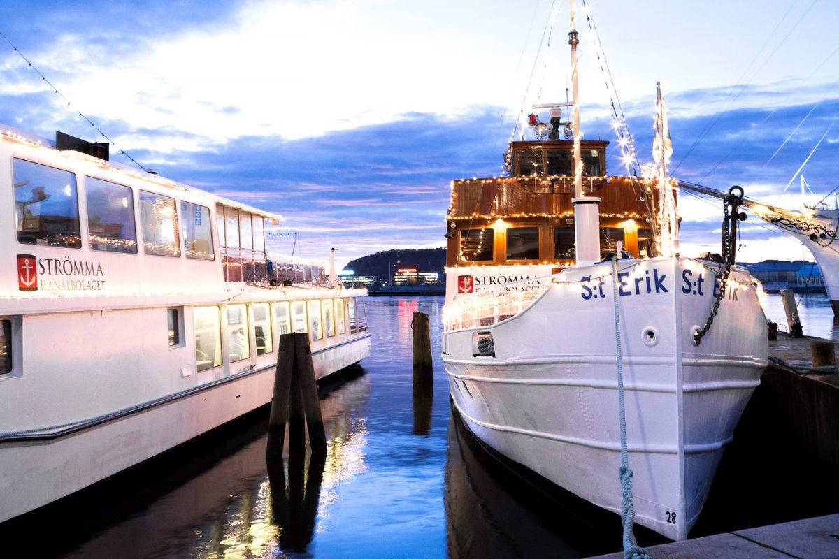 Barco St Erik que hace los cruceros de Navidad por Gotemburgo <br> Foto: stromma.se