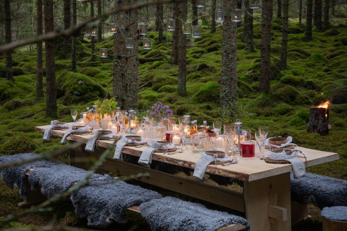 Sweden The Edible Country, mesas listas para disfrutar la comida y la naturaleza de Suecia <br> Foto: August Dellert