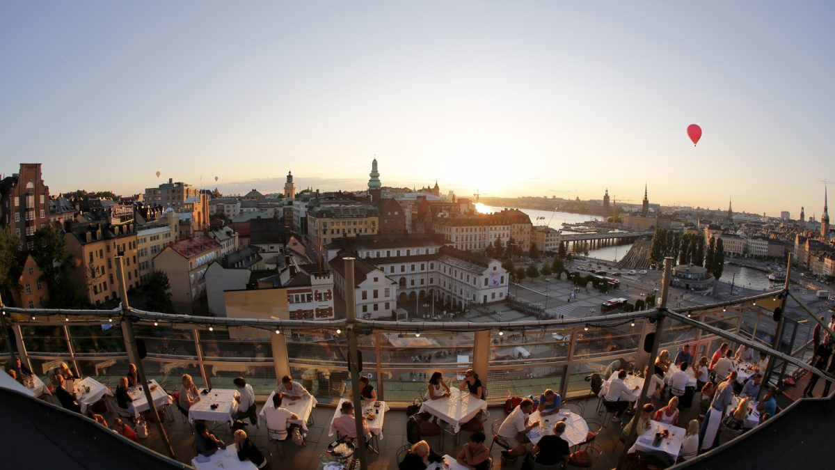The terrace at Gondolen in Stockholm