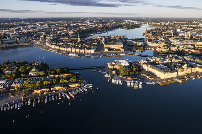 Vista de Estocolmo desde un helicóptero <br> Foto: Henrik Trygg / mediabank.visitstockholm.com