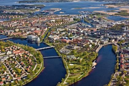 Vista aerea de Karlstad, Suecia - Foto: visitkarlstad.se