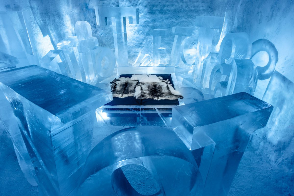 You are my type - Suite artística del ICEHOTEL 365 <br> Foto: Asaf Kliger