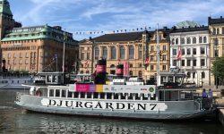 Barco a Djurgården desde Estocolmo
