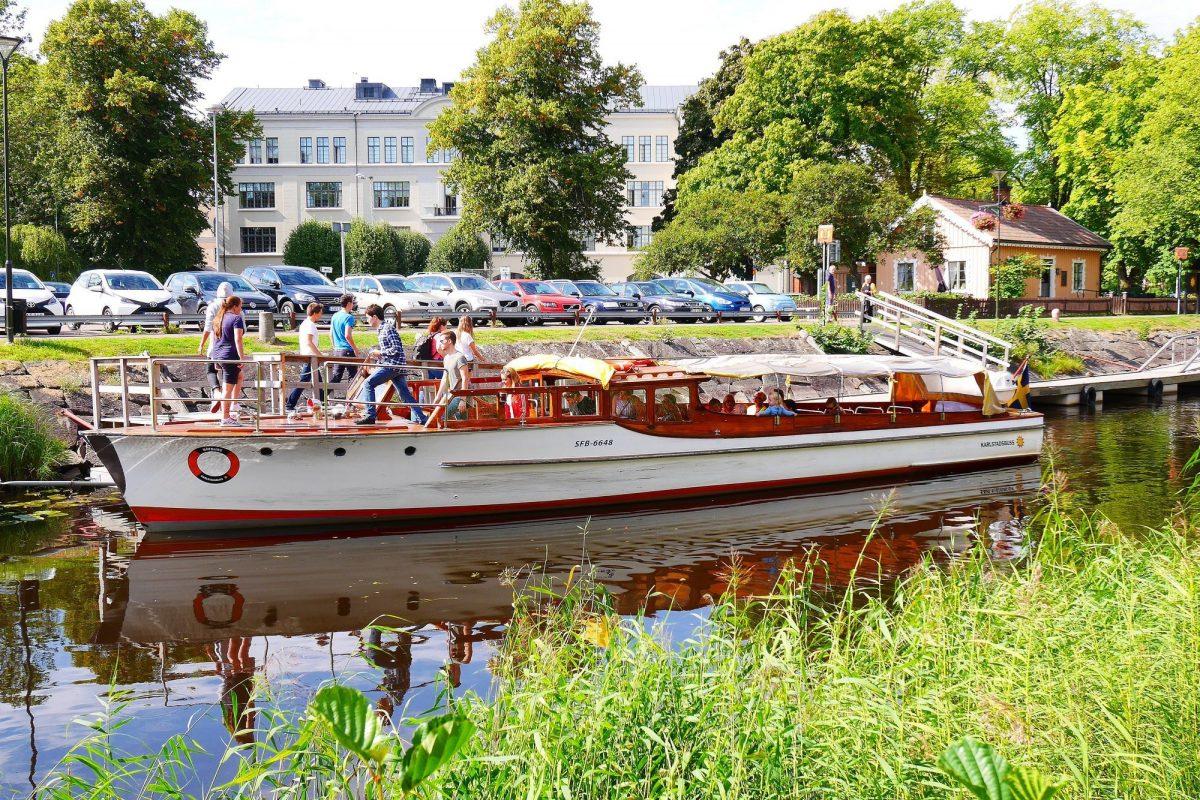 Barcos turístiscos en Karlstad en verano <br> Foto: karlstad.se