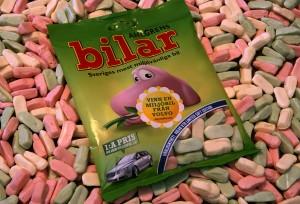 Bilar - las golosinas más vendidas en Suecia