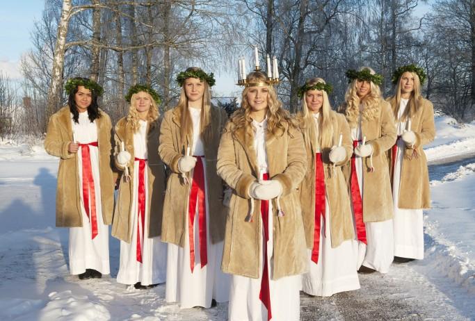 Celebración de Santa Lucía en Suecia<br>Foto: Cecilia Larsson / imagebank.sweden.se