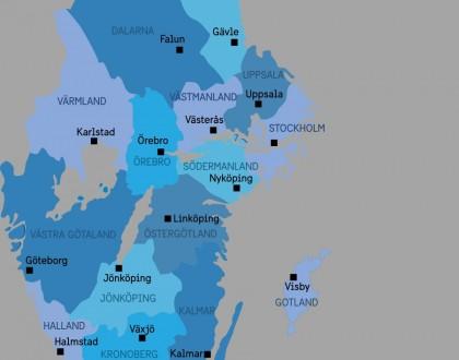 Los 21 condados de Suecia sweetsweden.com