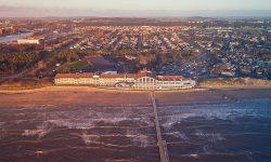 Falkenberg Strandbad visto desde el aire