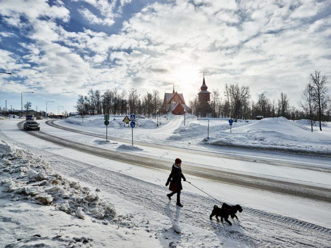 Kiruna, un pueblo de traslado <br> Foto: Hans Olof Utsi / imagebank.sweden.se