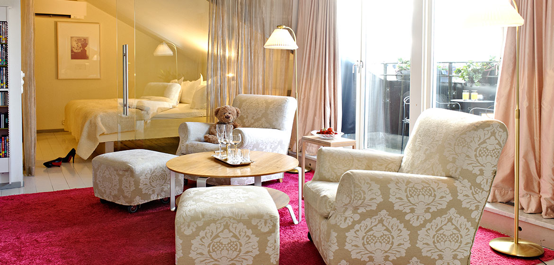Una de las suites del hotel Rival en Estocolmo <br> Foto: rival.se