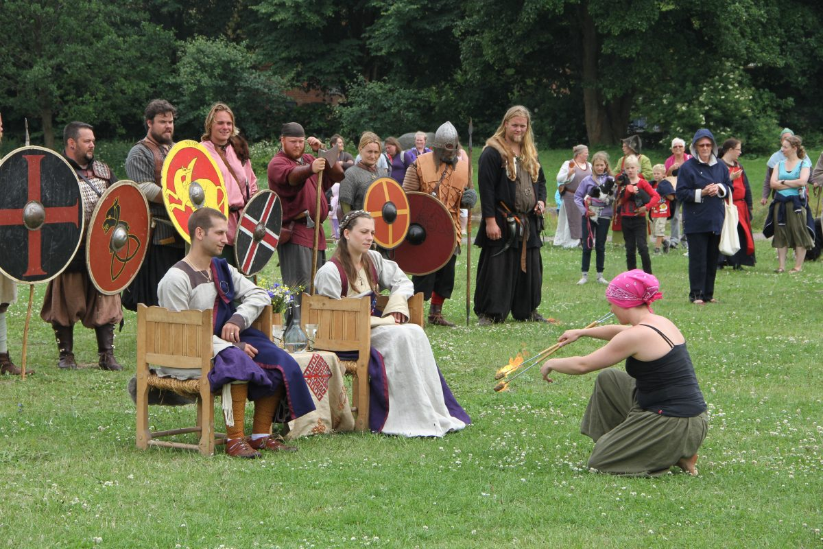 Bodas vikingas en Trelleborg, Suecia <br> Foto: Ingrid Wall