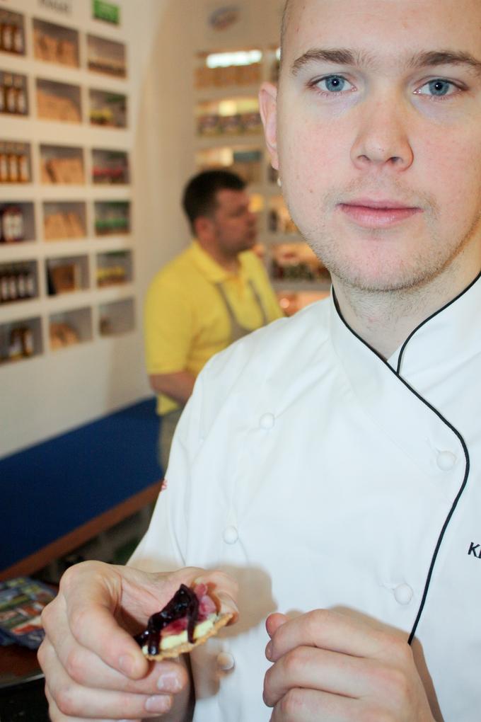 Klas Lindberg durante su visita a Alimentaria en Barcelona