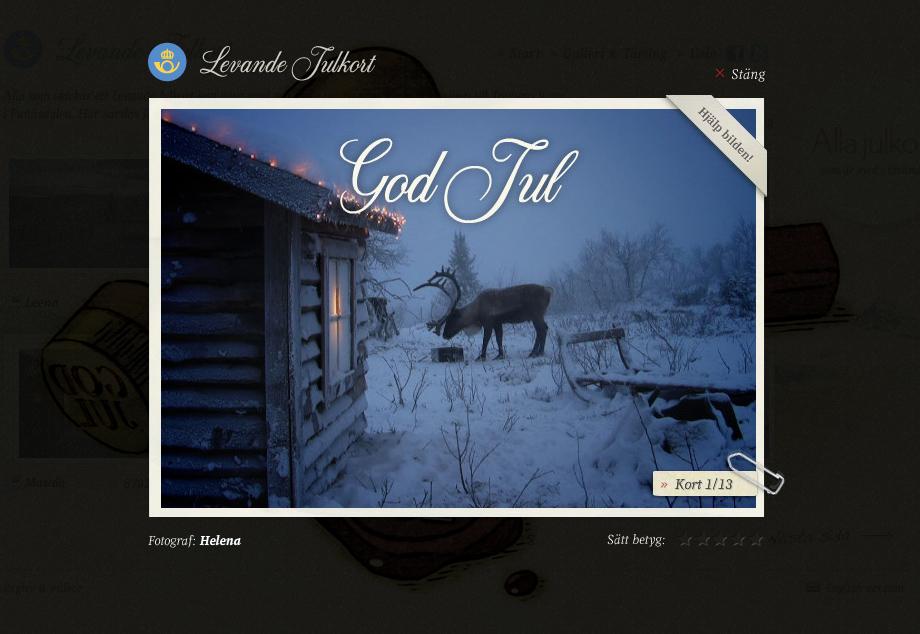 Postales vivientes de Navidad desde Suecia
