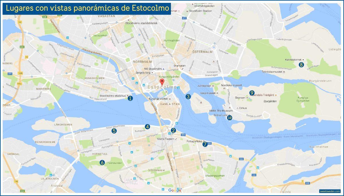 10 lugares con vistas panorámicas de Estocolmo <br> sweetsweden.com