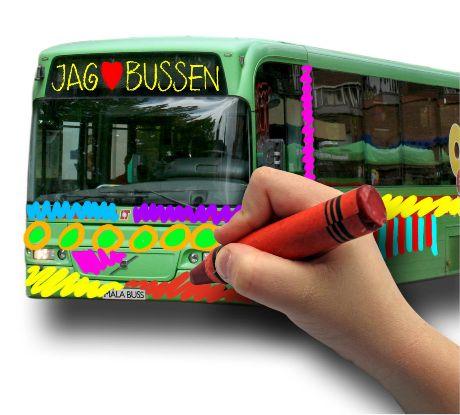 Måla en buss en Eskilstuna