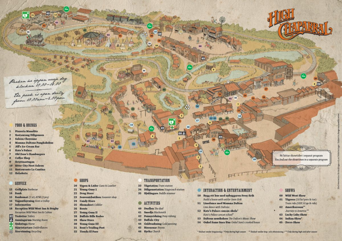 Mapa de High Chaparral