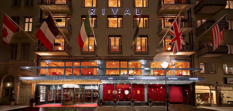 Entrada del hotel Rival en Estocolmo <br> Foto: rival.se