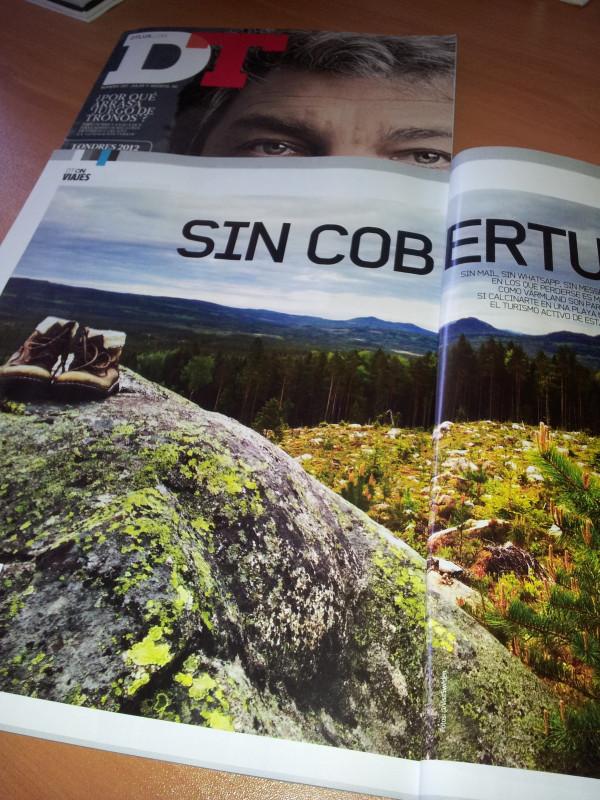 Mi foto de trekking en Långberget, Värmland en la revista DT en edición papel