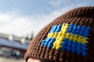 Gorro con bandera sueca Foto: Mikko Nikkinen / imagebank.sweden.se
