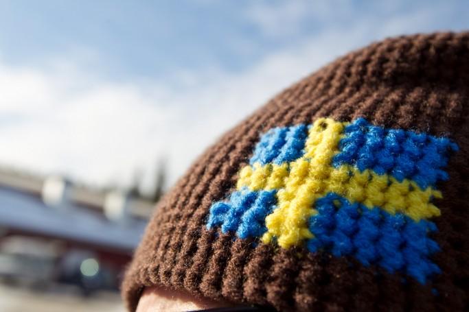 Gorro con bandera sueca - Foto: Mikko Nikkinen / imagebank.sweden.se