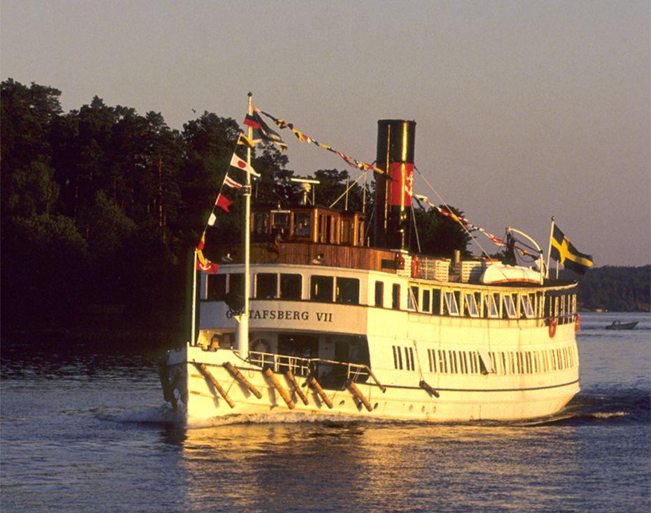 Gastronomic cruises in Stockholm at MS Gustavsberg VII
