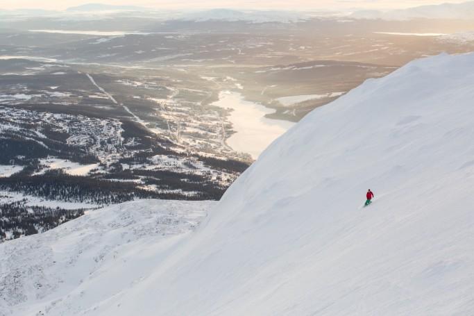 Åre, esquí alpino en Suecia <br> Foto: Niclas Vestefjell / imagebank.sweden.se