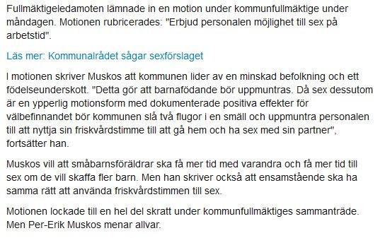 Extracto de noticia original de Norrbottens kurir
