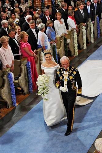 Victoria de Suecia y su padre el Rey Carlos Gustavo
