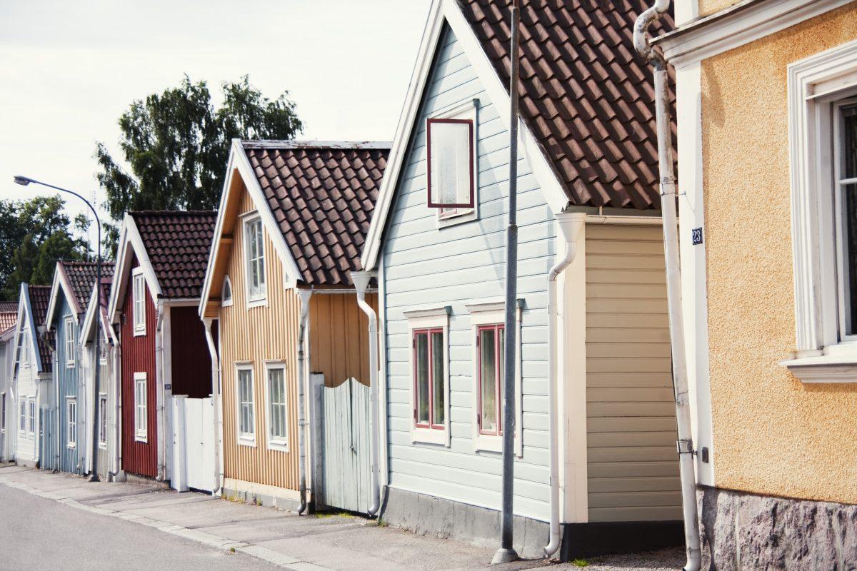 Skutskepparhusen, las casas de capitanes en Nyköping <br> Foto: Kalle Gustavsson
