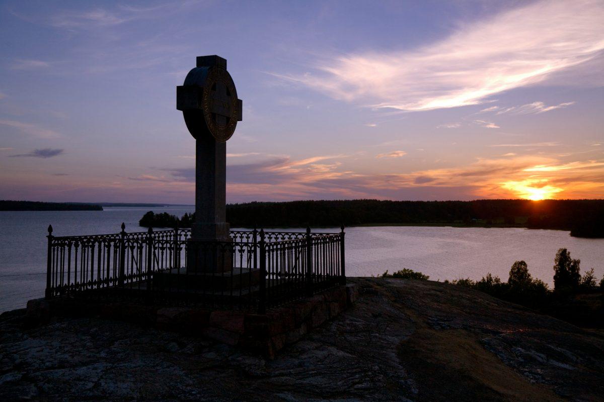 La cruz de Ansgar en la vikinga Birka Foto: Ola Ericson / imagebank.sweden.se