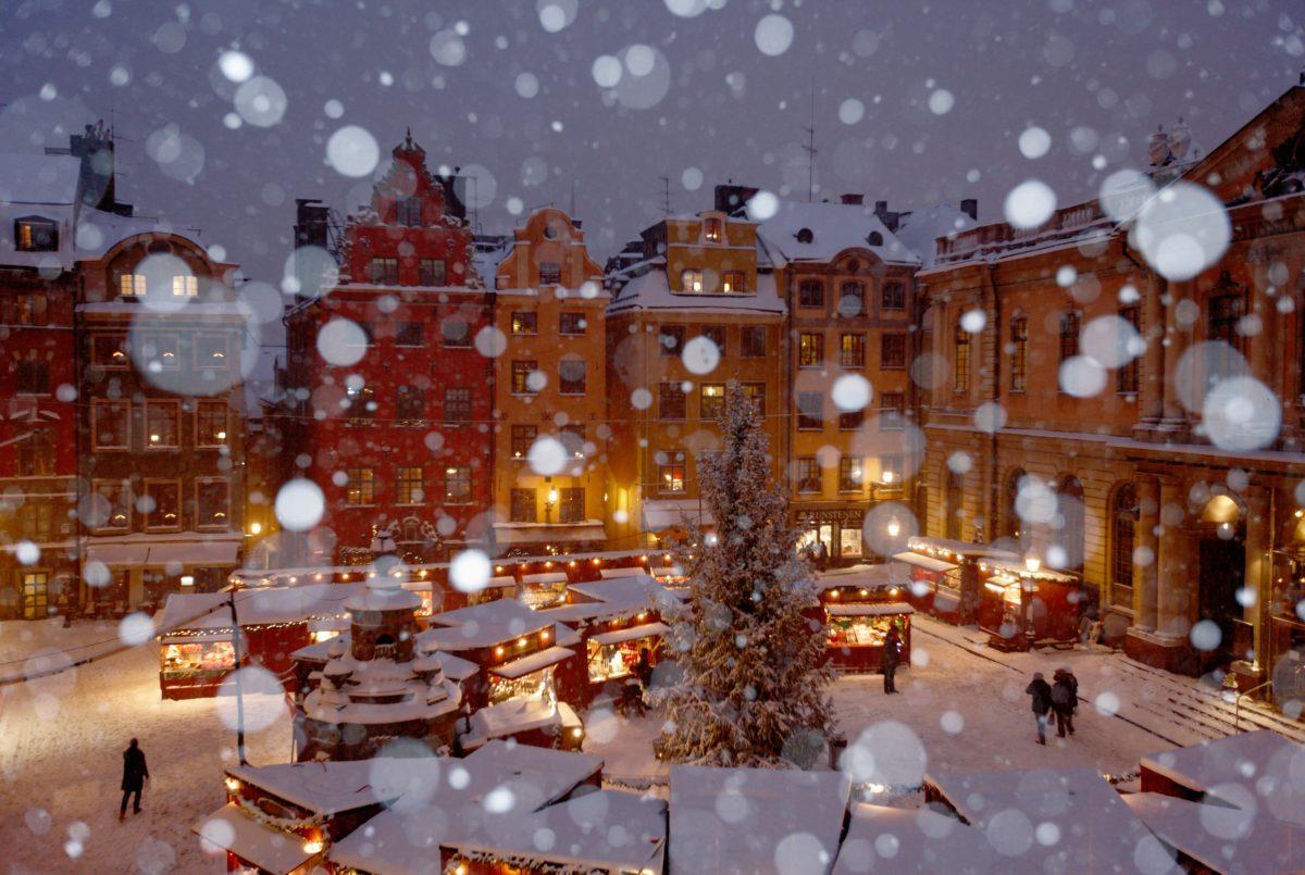 Stortorget en Gamla Stan, Estocolmo en invierno <br> Foto: Ola Ericson / imagebank.sweden.se