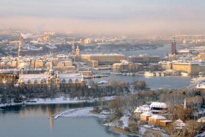 Vista de Estocolmo nevada Foto: Ola Ericson / imagebank.sweden.se