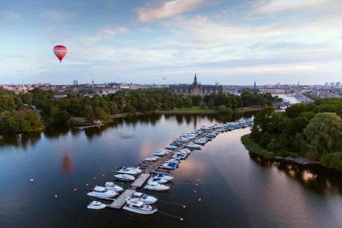Vista sobre Djurgården, Estocolmo <br> Foto: Ola Ericson / imagebank.sweden.se