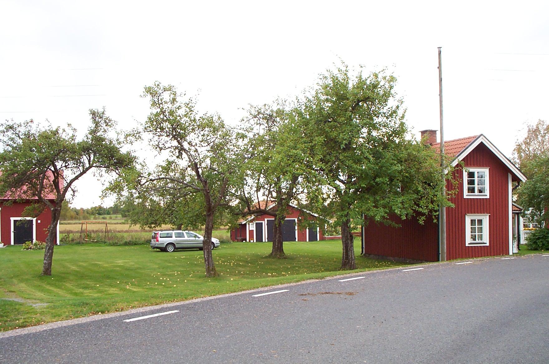 Casas suecas de color rojo