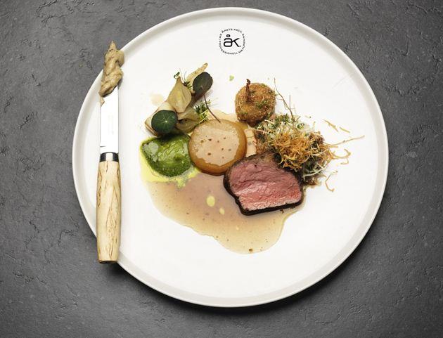 Plato con el que Klas Lindberg ganó el premio a Cocinero del Año 2012 en Suecia