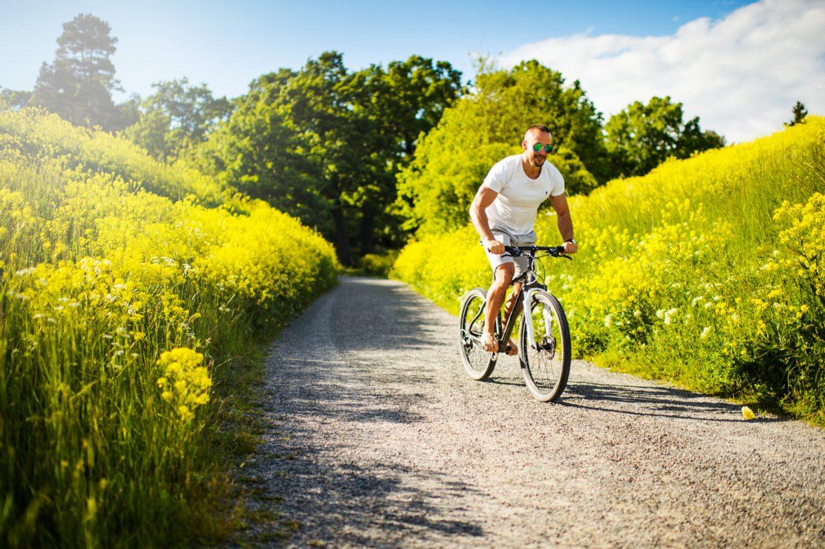 En bici por caminos de Suecia <br> Foto: Simon Paulin / imagebank.sweden.se