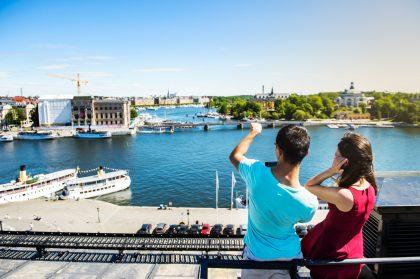 Vistas de Estocolmo desde lo alto de un edificio Foto: Simon Paulin / imagebank.sweden.se
