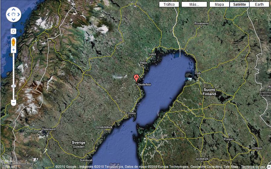 Situación de Skellefteå en Google Maps