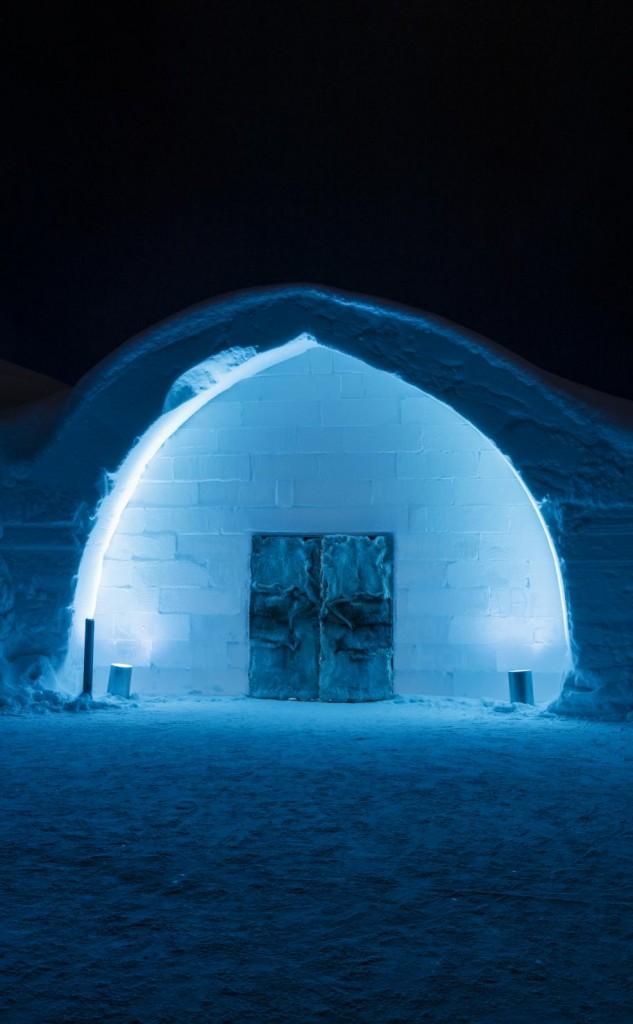 Entrada del hotel de hielo - Foto: Christopher Hauser
